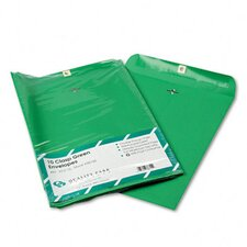 Fashion Color Clasp Envelope, 10 x 13, 28lb, Green, 10/pack