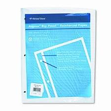 "Heavyweight Reinforced Bond Filler Paper, 11x8-1/2, 5/16"" Ruled, 100 Shts/pk"
