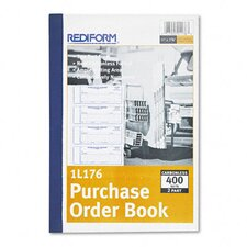 Purchase Order, 7 x 2-3/4, Carbonless Duplicate, 400 Sets/Book