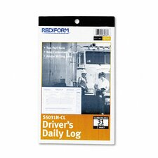 Driver's Daily Log, 31 Sets/Book