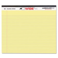 Landscape Format Writing Pad, College Ruled, 11 X 9-1/2, 40 Sheets/Pad