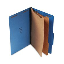 Expanding Classification Folder, Legal, Six-Section, 15/Box
