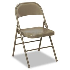 Bridgeport 60-810 Series All Steel Folding Chairs, 4/Carton