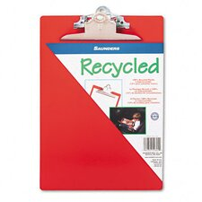 "Recycled Plastic Clipboard, 1"" Capacity, Holds 8 1/2 x 12, Red"