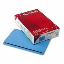 Straight Cut File Folders, Reinforced Top Tab, 100/Box