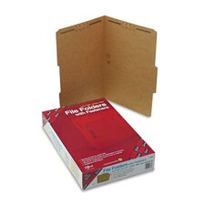 Two Fasteners 2/5 Cut Top Tab 11 Point Kraft Folders, Legal, 50/Box
