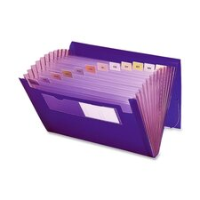 "Expanding Pocket, 12 Pocket, 7/8"" Exp, 13""x9-1/4"", Purple"