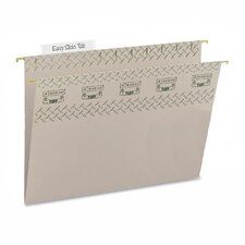 Tuff Hanging Folder w/Easy Slide Tab, Letter, Green, 18/Pack