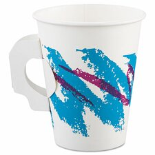 Jazz 8 oz. Hot Paper Cup with Handle (Set of 1000)