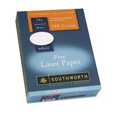 25% Cotton Laser Paper, 20 Lbs., 500/Box