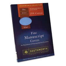 25% Cotton Manuscript Covers, 100/Box