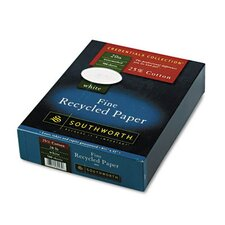 25% Cotton Recycled Business Paper, 500/Box, Fsc