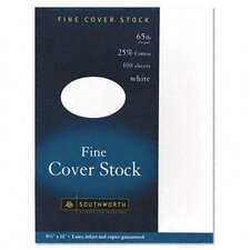 25% Cotton Business Coverstock, 100/Box