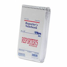 Reporter Notebook, Gregg Rule, 12 70-Sheet Pads/Pack