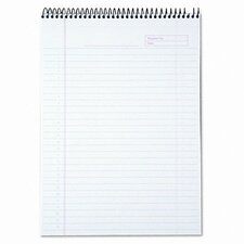 Docket Gold Wirebound Ruled Planner Pad, Legal Rule, Letter, 70 Sheets/Pad