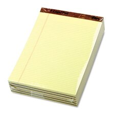 Perforated Pads, Narrow Rule, Letter, Canary, 50 Sheets, 12-Pack