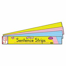 Wipe-Off Sentence Strips, 30/Pack