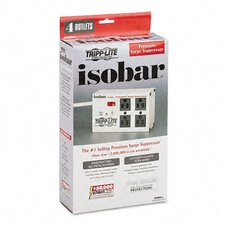 Isobar Surge Suppressor, Metal, 4 Outlet, 6Ft Cord, 3330 Joules