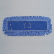 "24"" x 5"" Looped End Dust Mop Head in Blue"