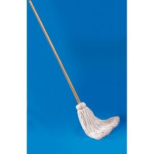 Deck Mop with Wooden Handle
