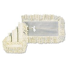 "18"" x 5"" Disposable Dust Mop Head in White"