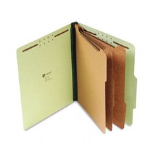 Pressboard Classification Folder, Letter, Eight-Section, 10/Box