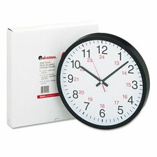 24-Hour Round Wall Clock