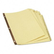 Preprinted Plastic-Coated Tab Dividers, 31/Set