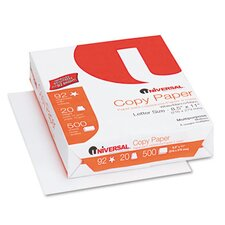 Copy Paper, 92 Brightness, 20 lb, 8-1/2 x 11, White, 200,000 Sheets