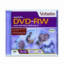 Dvd-Rw Discs, 4.7Gb, 2X, W/Slim Jewel Cases, 10/Pack