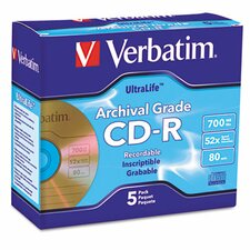 Cd-R Archival Grade Disc, 700Mb, 52X, 5/Pack