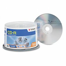Spindle Cd-R Discs, 700Mb/80Min, 52X, Spindle, 50/Pack