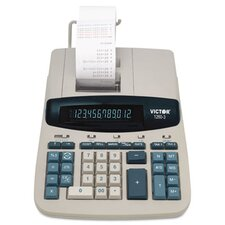 Heavy-Duty Printing Calculator, 12-Digit Fluorescent