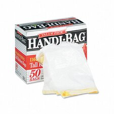 Handi-Bag Super Value Pack Trash Bags, 13 Gallon, .69 Mil, 24 X 27-3/8, 50/Box