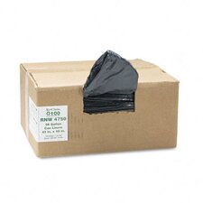 Earthsense Commercial Recycled Can Liners, 56 Gal, 1.25 Mil, 43 X 48, 100/Carton