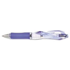 Spiral Retractable Ballpoint Pen, Fine Pt, Blue