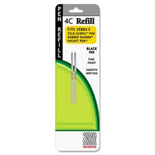 Refill For 4C Pocket Pen, Fine, 2/Pack