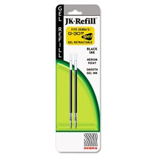 Jk Refills For G301Gel Rollerball Pens, Medium Point, 2/Pack