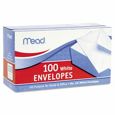 Business Envelope, 3 5/8 × 6 1/2, 20 lb, White, 100/Box