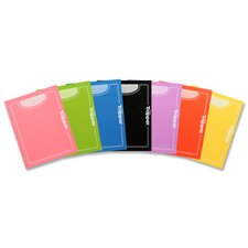 "Portfolio, w/ 2 Pockets, 3-Hole Punch, 9-1/2""x12"", 48 per Carton, Assorted"
