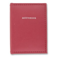 "Mini Telephone Address Book, Vinyl, 3""x4"", Assorted, 2012"
