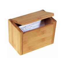 Bamboo Recipe Box in Natural