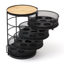 4 Tier Round Coffee Pod Tower with Swing Out Drawer