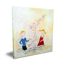 Wit & Whimsy A long Yarn Canvas Art