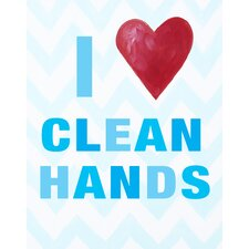 I Heart Clean Hands Print Art