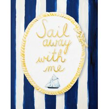 Nautical Sail Away With Me Giclée Canvas Print