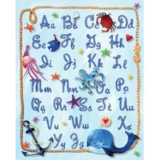 Nautical Alphabet Rope Paper Print Art