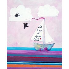 Nautical Let Hope Be Your Sail Paper Print Art