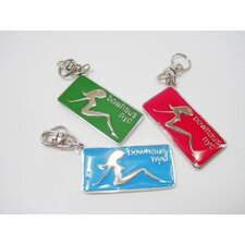 Mudflap Girl Collar Charm in Green
