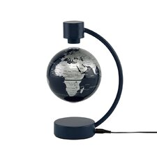 "4"" Levitating Globe in Silver and Blue"